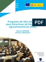 Programa de Alta Gestión para Directivos de Empresas Agroalimentarias -