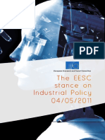 The EESC stance on industrial policy