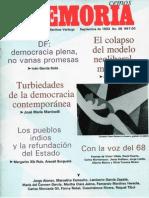 Memoria, nº 058, septiembre 1993