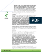 Herbalife Corporate Profile October 2009
