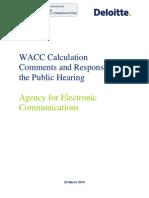 WACC_Calculation_DELOITE Macedonija Telecom 2009