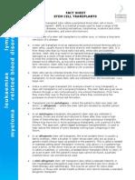 8. FactSheet AusLF Stem Cell Transplants