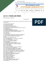 LE C++ POUR LES PROS
