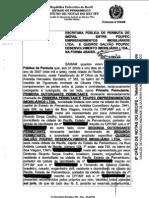 Vila Jardim - Escritura de Permuta de Imóveis e Convenção do Condomínio