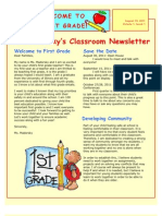 Madorsky Leslie 406 Cohort1 Classroom Management Newsletter and Rationale