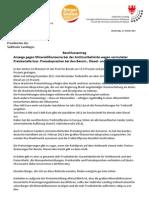 Anzeige gegen Mineralölkonzerne wegen Preisabsprachen - Antrag BürgerUnion im Landtag