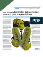 Los 11 mandamientos del márketing personal para emprendedores