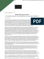 Saúde básica para todos - Scientific American Brasil