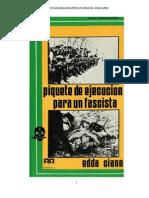 Piquete de ejecución para un fascista. Edda Ciano (Hija de Mussolini y esposa de Galeazzo)