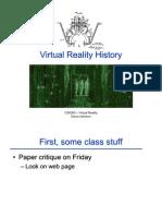2- Virtual Reality History
