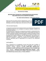 Metodologia de La Investigacion en Educacion e Inclusion Social