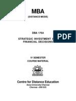 DBA 1764 - Strategic Investment