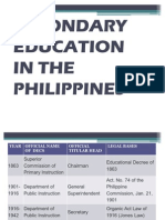 Secondary Education Report
