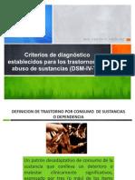 2.2 Criterios de diagnóstico establecidos por los trastornos por