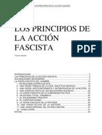 Los principios de la acción fascista. Varios autores