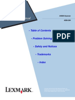 Lexmark X-4500 4036-304 Scanner Service Manual