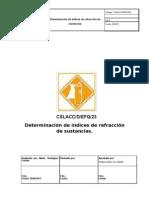 Ejemplo de pnt- 23. Determinación de índices de refracción de sustancias.