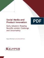 Kalypso Social Media and Product Innovation 1