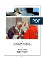 Benedicto XVI. Miércoles de Ceniza. 22-02-2012
