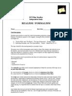 Realism Formalism is Rubric