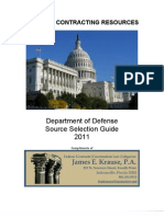 Department of Defense Source Selection Guide 2011