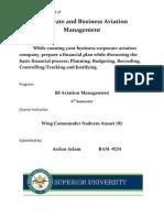 Basic Financial process of Business Aviation Company