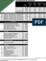 Lista de Precios de Uruguay de Los Distribuidores