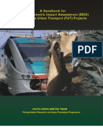Handbook for Socio-economic Impact Assessment (SEIA) of Future Urban Transport Projects