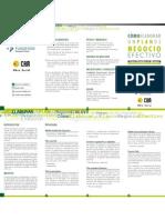 Programa del curso Cómo elaborar un plan de negocio efectivo