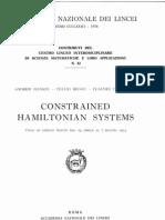 Constrained Hamilton Ian System - Hanson-Regge