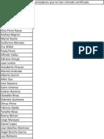 Lista de Participantes o Organizadores que no han retirado certificado.
