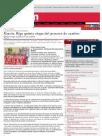 García_ Rige quinta etapa del proceso de cambio · la-razon