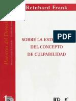 Sobre La Estructura Del Concepto de Culpabilidad - Frank, Reinhard