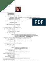 CV franceza
