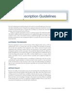 Transcription Appendix