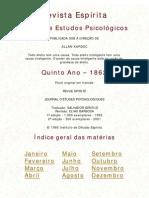 Espiritismo Portugues Revista Espirita 1862
