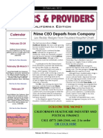 Payers & Providers California Edition – Issue of February 23, 2012