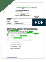 PAK301AllPastSolvedPapersofPAK301inonefile