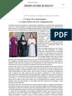 o Hoje Do Ecumenismo e a Expectativa Do Seu to