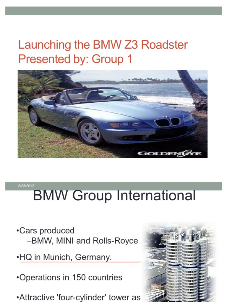 launching the bmw z3 roadster case solution