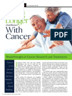 """LIVING LONGER (and better) WITH CANCER"""