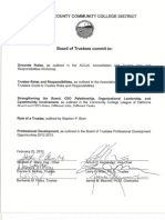 Board of Trustees Agreement Document