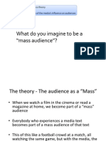 Mass Audience Theory & Media Influence