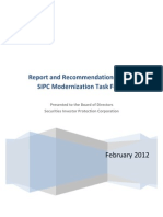 Report & Recommendations of the SIPC Modernization Task Force 2012