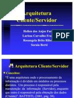 Arquitetura Cliente-Servidor