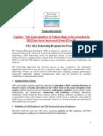 2012 VEF Fellowship Announcement Process B FINAL