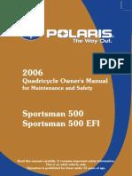 2006 Polaris Sportsman Owners Manual Intl