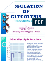 Regulation of Glycoysis