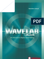Steinberg Wavelab 4.0 Manual