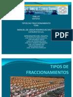 TIPOS DE FRACCIONAMIENTOS